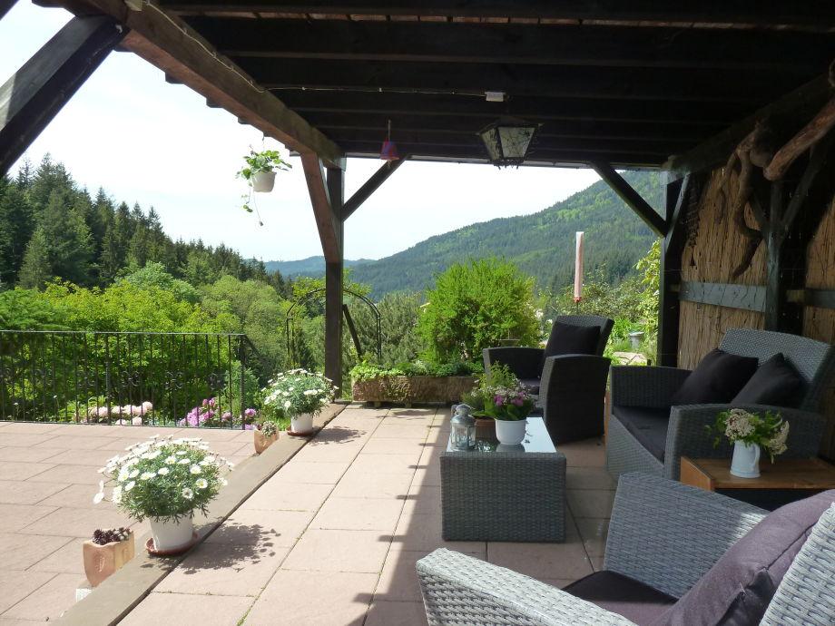 """Die """"Lounge"""" mit Blick in die herrliche Natur"""