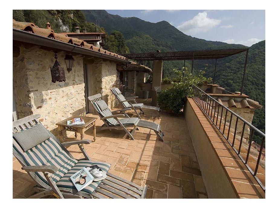 Eine Terrasse von Case Metato