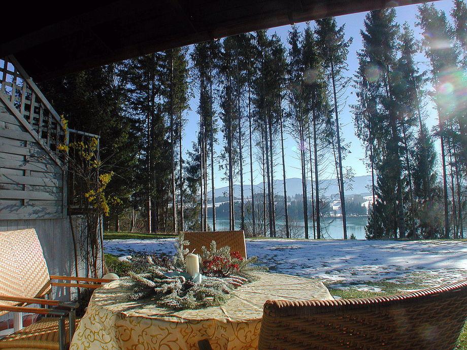 Wintertag - Vorweihnachtszeit auf unserer Terrasse