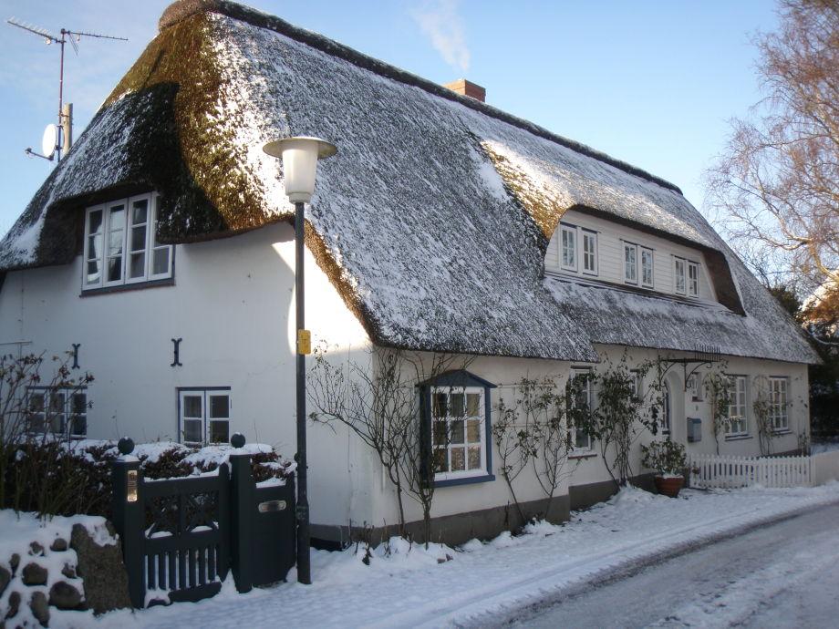 Haus Muschel im Winter