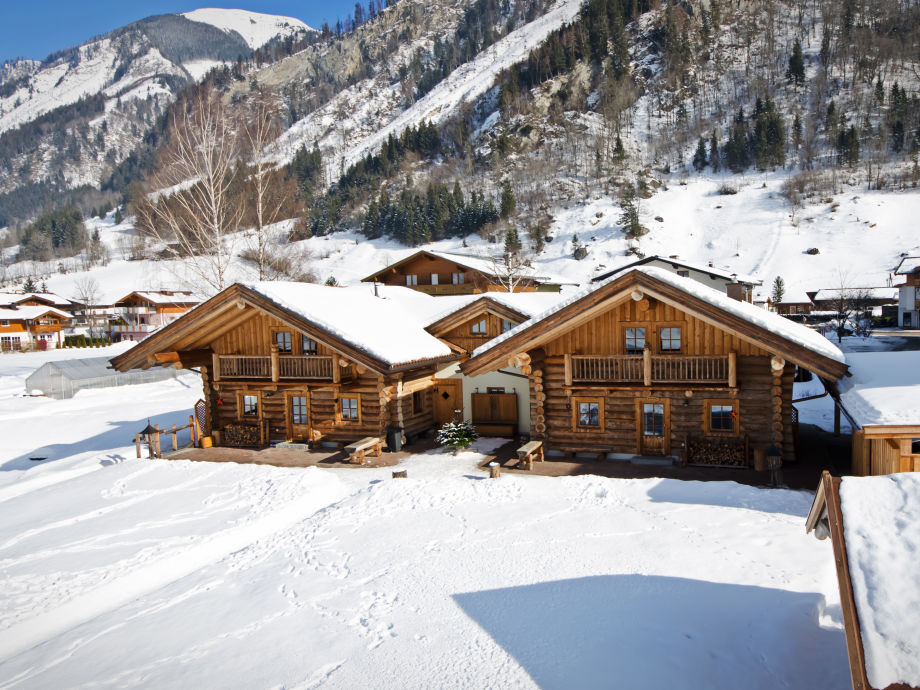 Alpenchalet im Winter