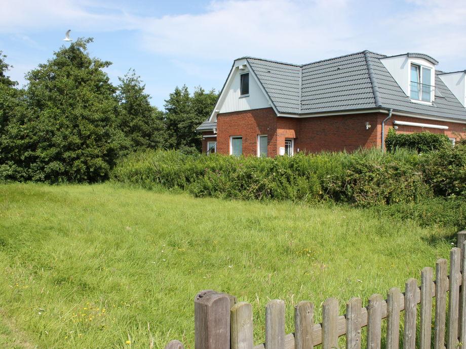 Seitenansicht des Hauses vom Greune-Stee-Weg aus