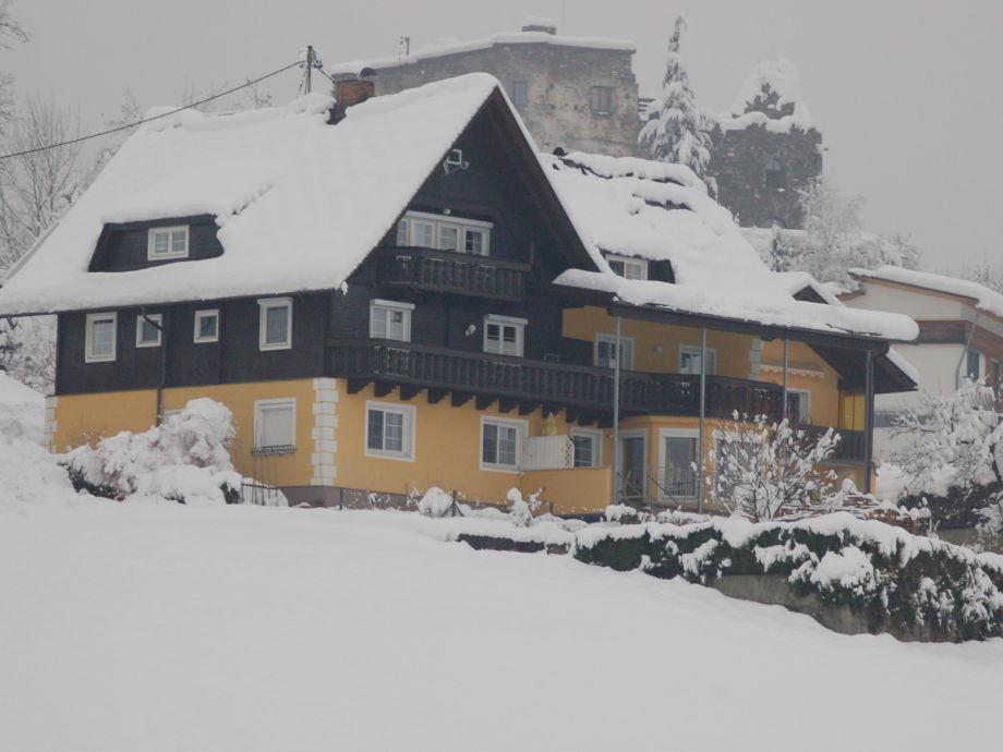 Haus Sommereck an einem Wintertag
