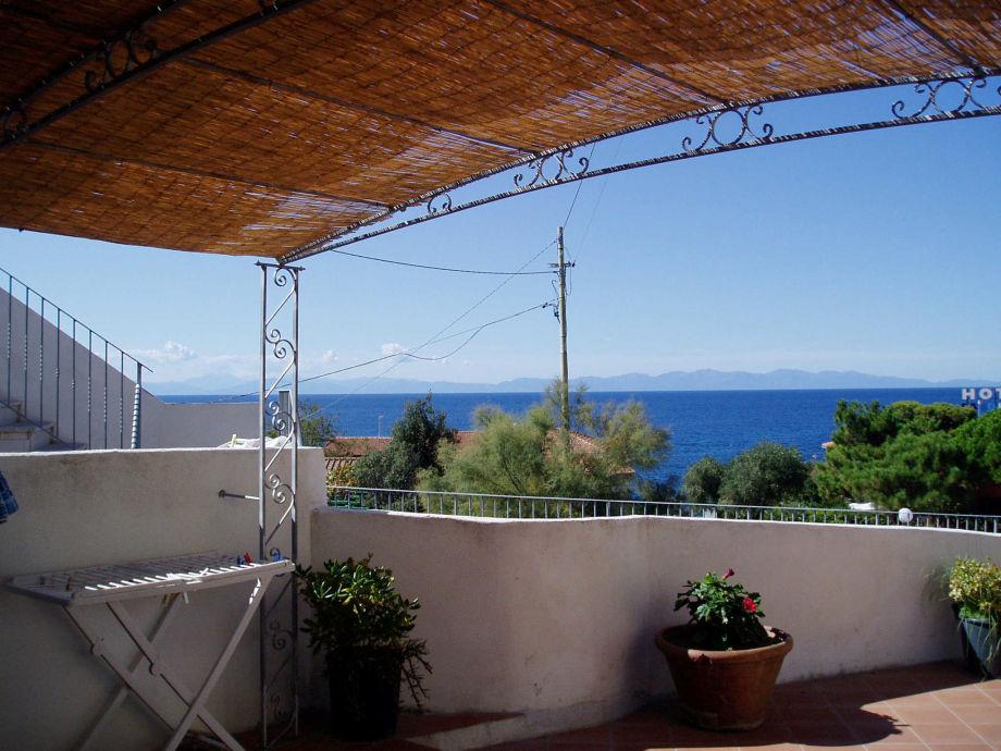 Casa del Sole terrace with sea view