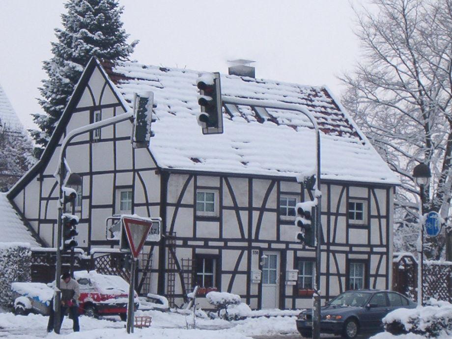 Winteransicht unserer Ferienwohnung