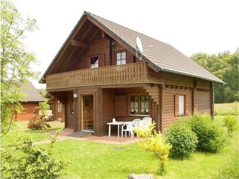 Komfortblockhaus mit Garten