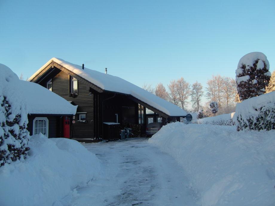 Ferienhaus Rotbuche im Winter