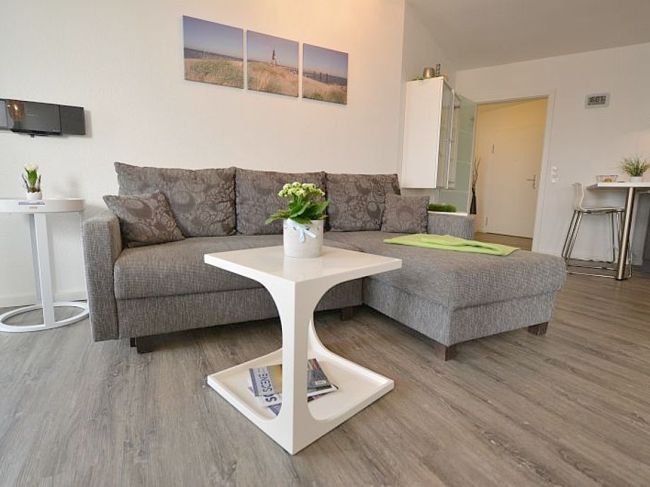 Wohnzimmer mit W-Lan kostenlos und Seesicht