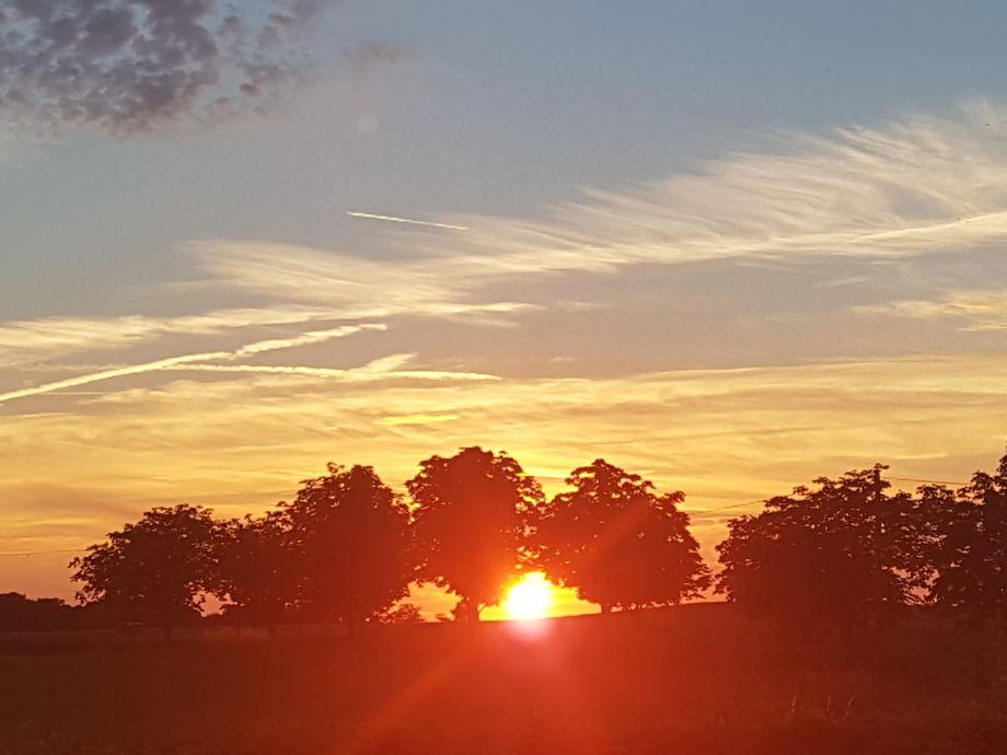 Sonnenuntergang auf dem Hof