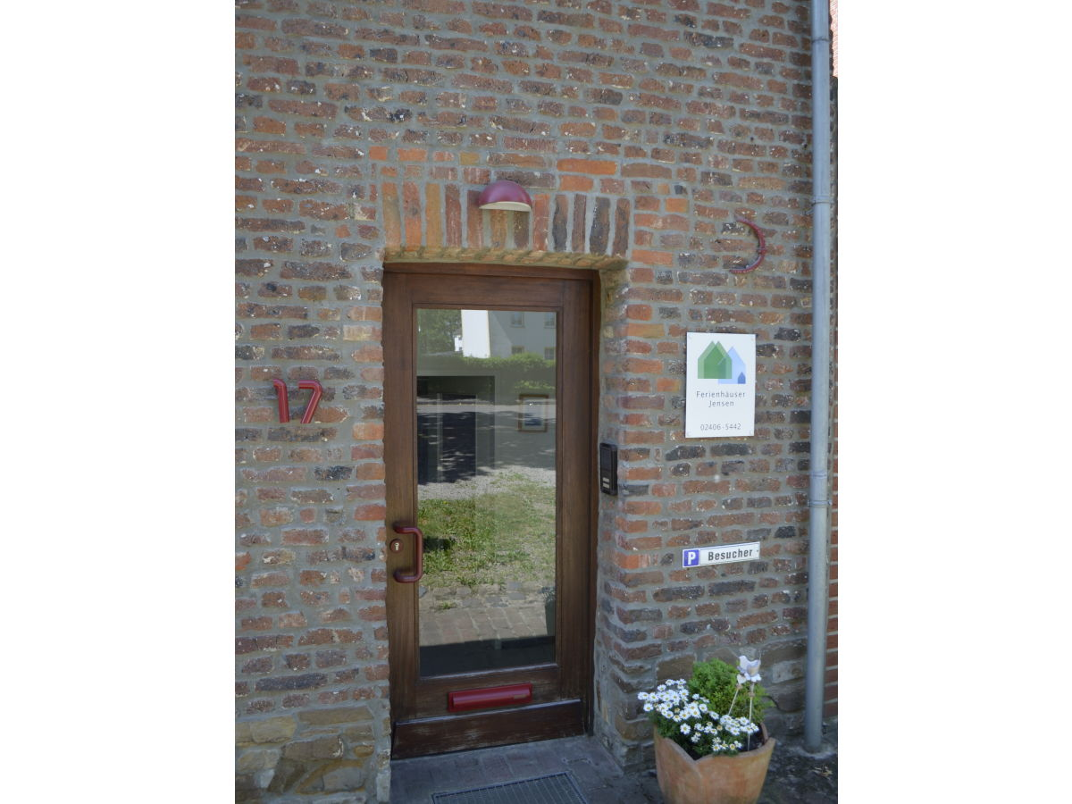 Der Eingang Zu Ihrem Ferienhaus