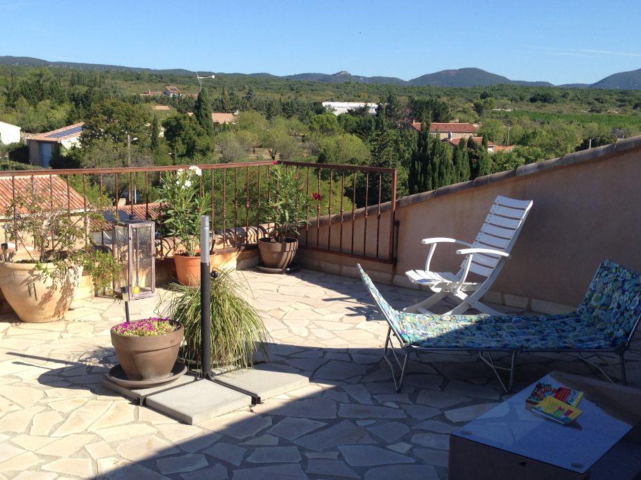 Terrasse mit Blick auf Umland