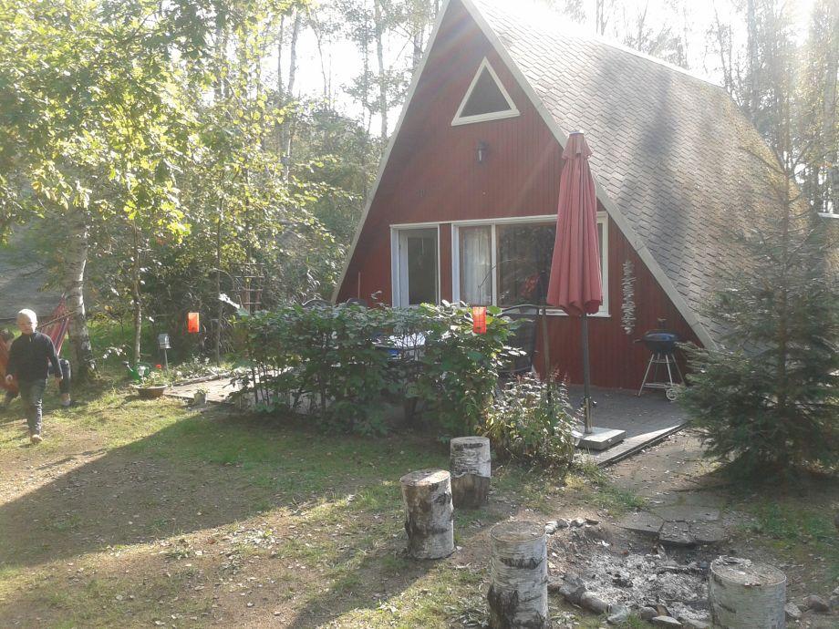 Finnhütte im Sommer