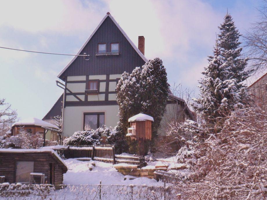 Fachwerkhaus Thiel im Winter