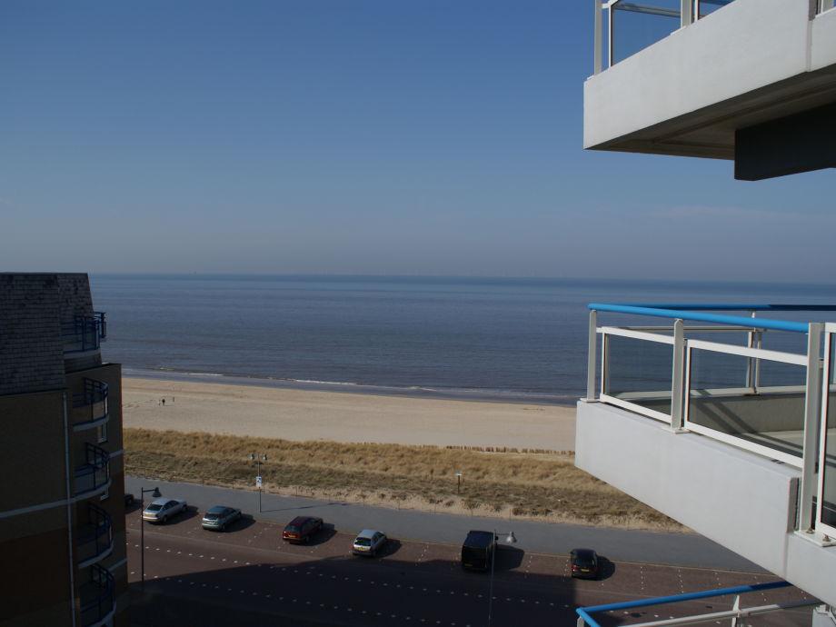 Die Aussicht auf das Meer in Egmond aan Zee