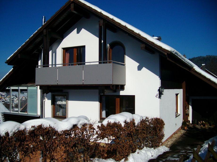 Ferienhaus Waldgrund im Winter