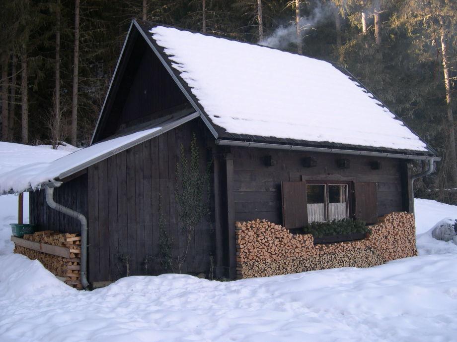 Berhütte Dengg im Winter
