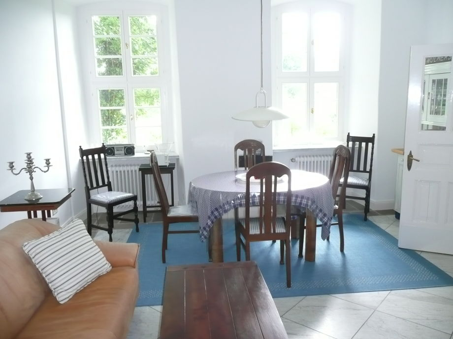 Kitchen with large table