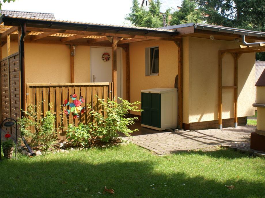 Ferienhaus Kaulsdorf - Gartenansicht