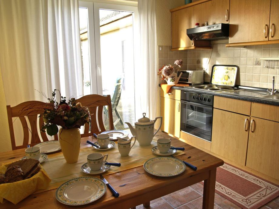 Küche und Essbereich der Ferienwohnung