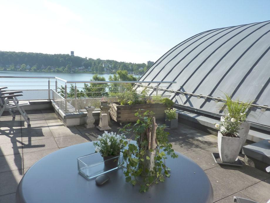 Dachterrasse mit Blick auf den Domsee