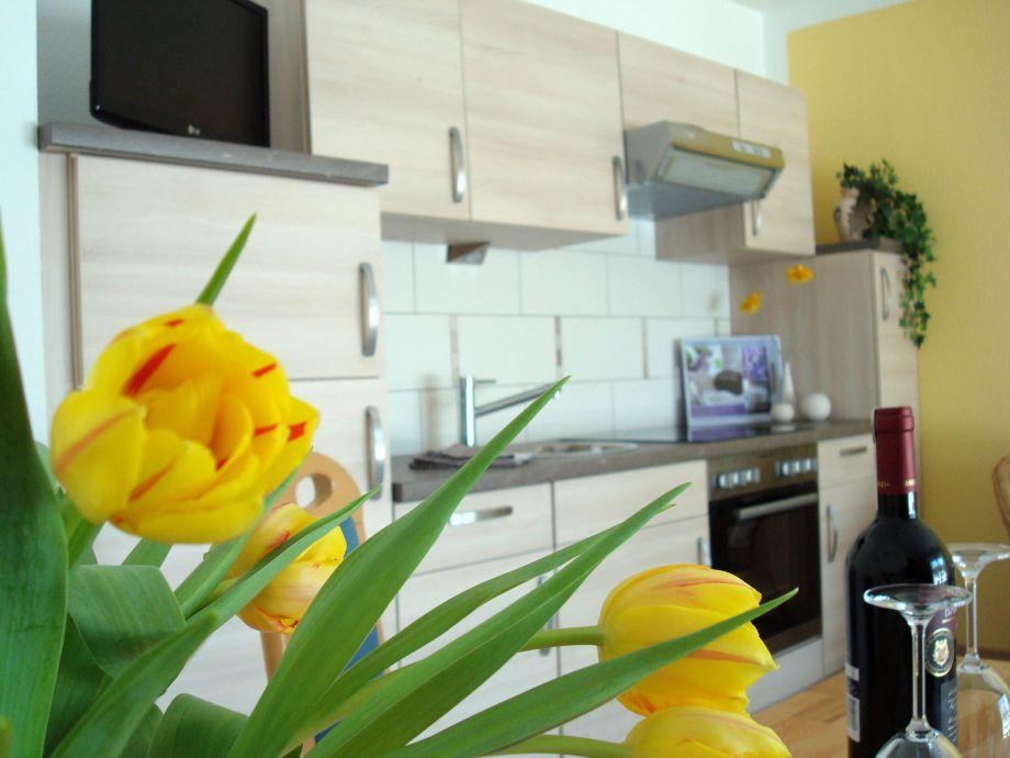Küchenbereich mit Fußbodenheizung