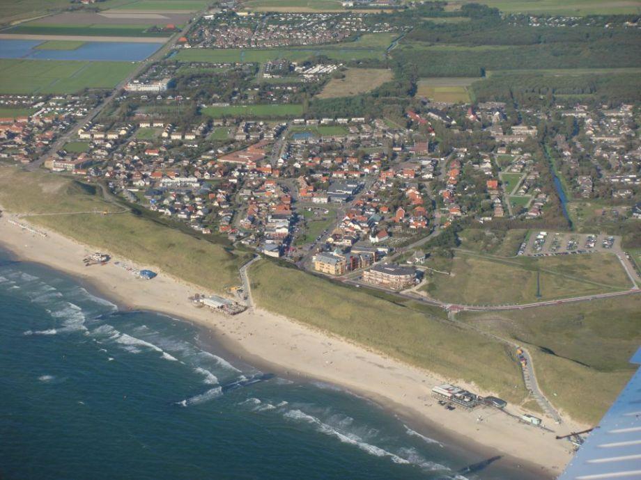 Callantsoog gesehen aus der Luft.