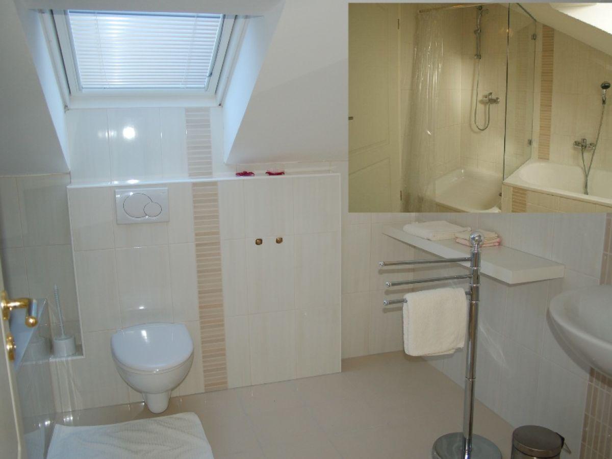 Ferienwohnung villa mare kroatien dalmatien zadar - Badezimmer mit dusche und badewanne ...