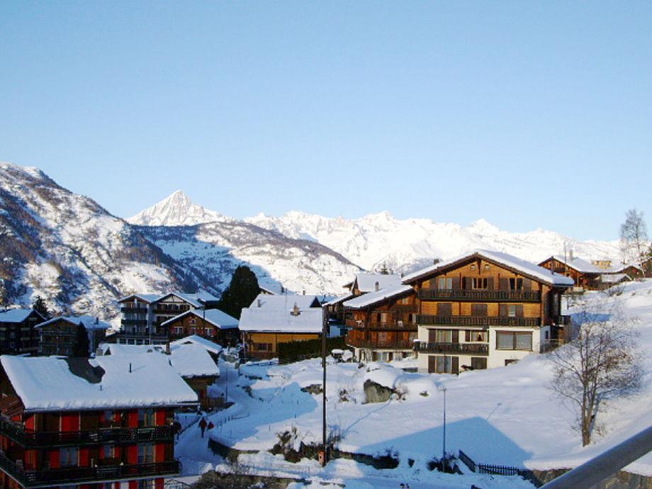 Grächen villagee with Bietschhorn