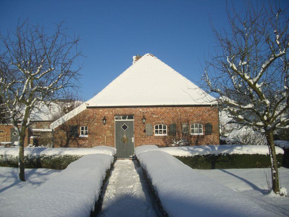 Das Achterhuus im Winter.