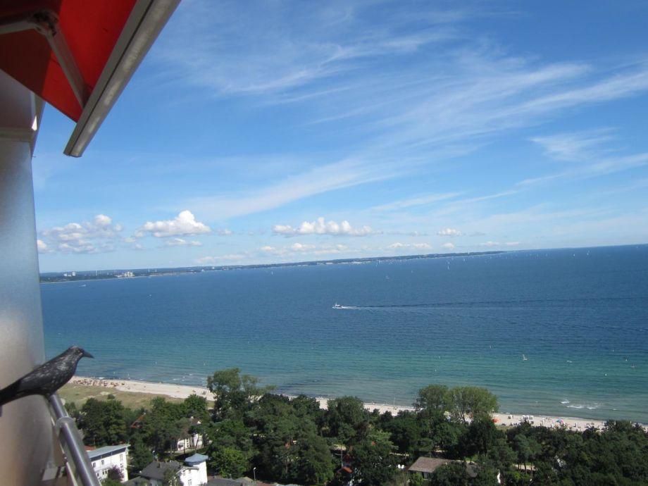 Ostseeblick vom Balkon
