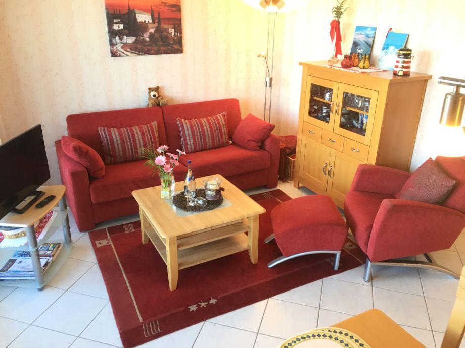 Wohnbereich mit großem Sofabett