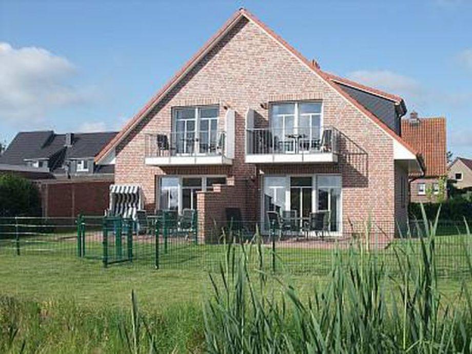 Blick auf das Haus mit 4 Ferienwohnungen