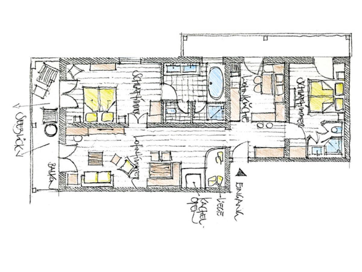 Apartment lechner am see schlierseestube schliersee for Hotel badezimmer grundriss