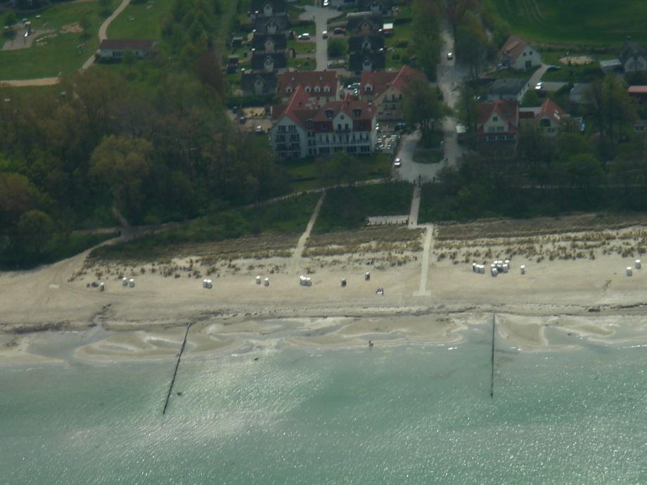 Luftansicht der Ferienunterkunft mit FeWo Ostseeidylle