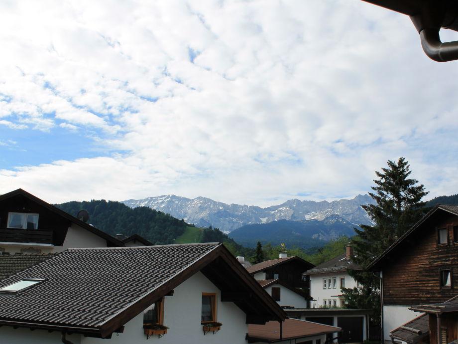 Ausblick vom Balkon - Wettersteingebirge