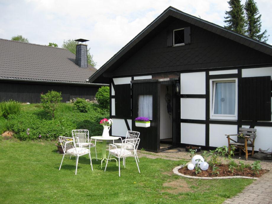 Außenaufnahme Ferienhaus am Rothaarsteig