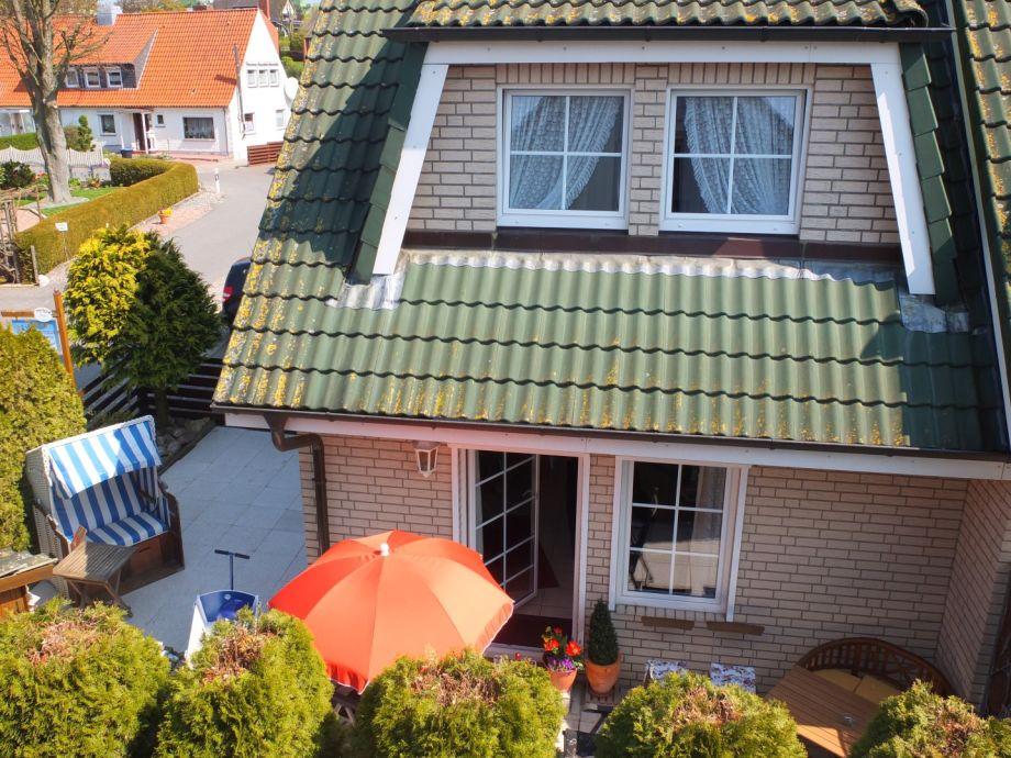 Ferienhaus: Ansicht von der Sonnenseite