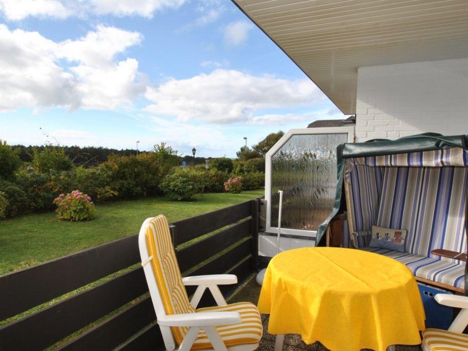 Balkon mit Aussicht in´s Grüne