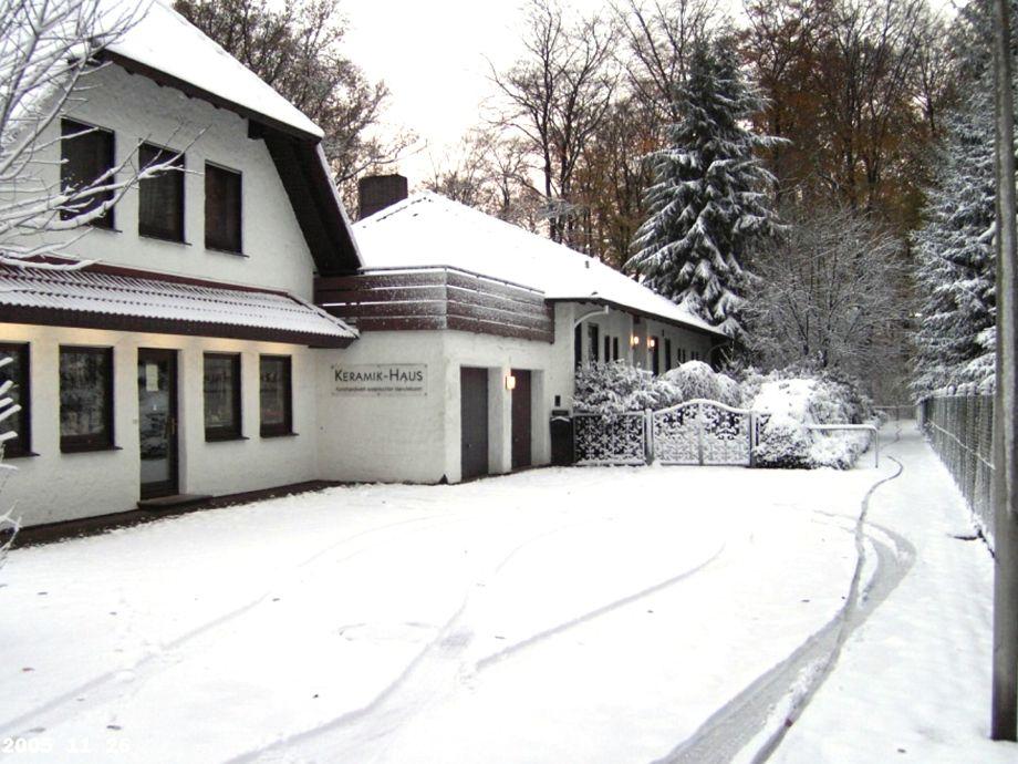 Das Keramik-Haus im Winter