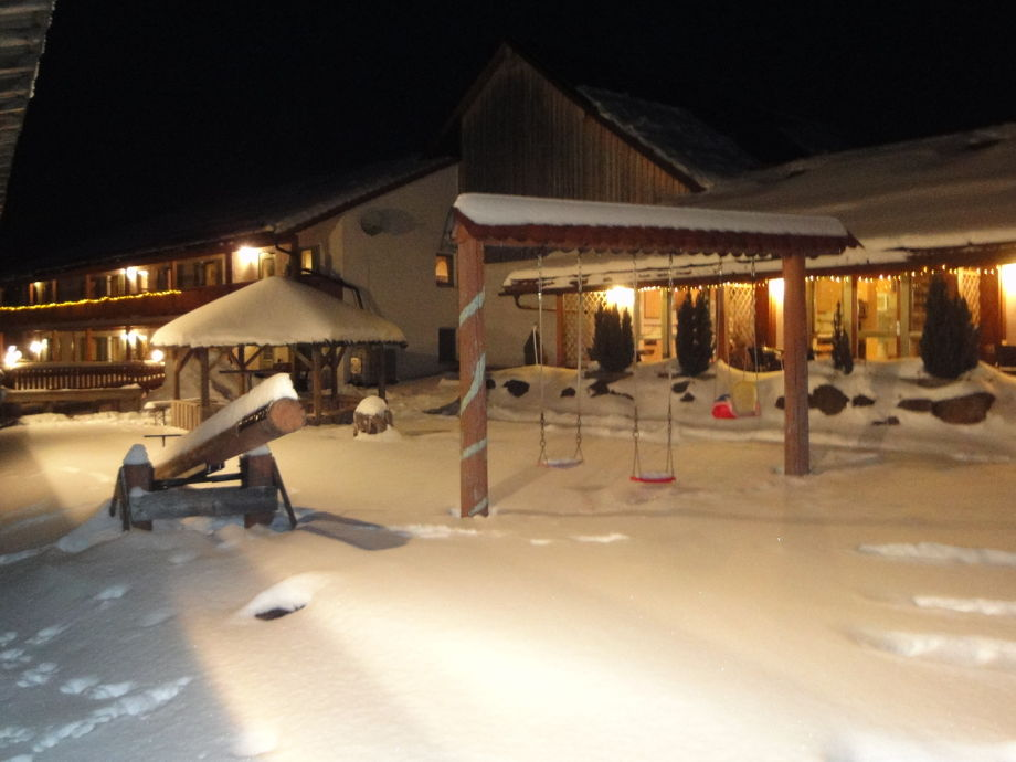 FW im nächtlichen Schneegewand