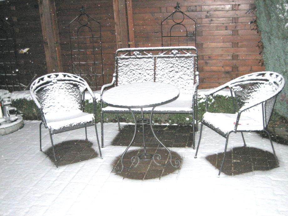 Terasse im Winter