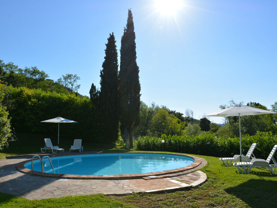 Außenaufnahme with pool-LA CAPANNA