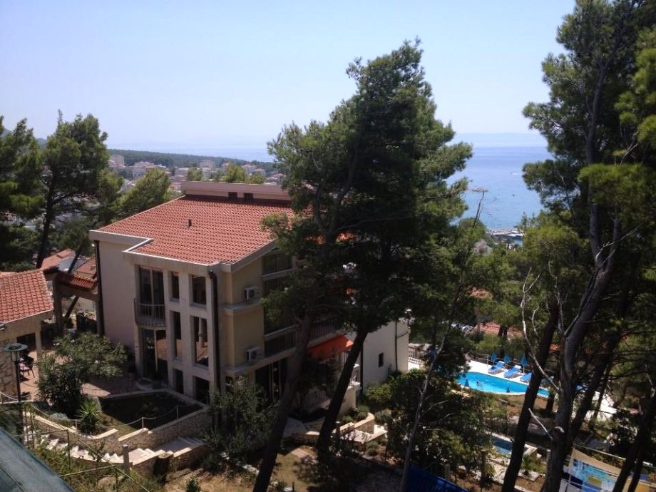 Die Villa Biokovo mit Pool und Meerblick