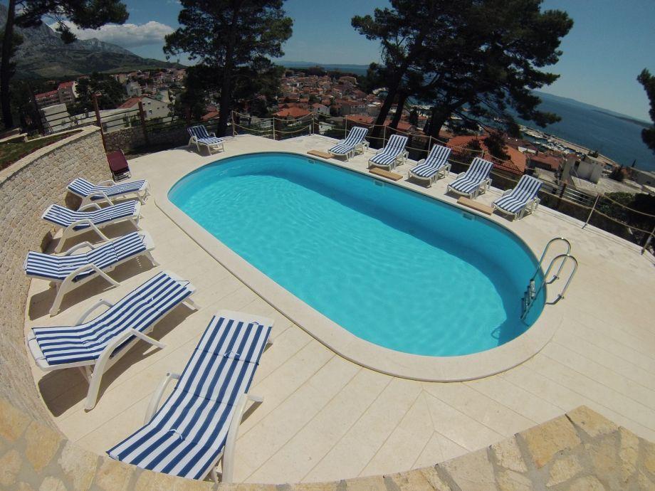 Unser Pool für die Gäste - mit Meerblick