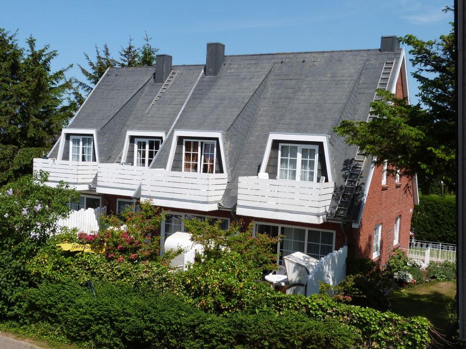 Südseite der Ferienwohnung auf Sylt