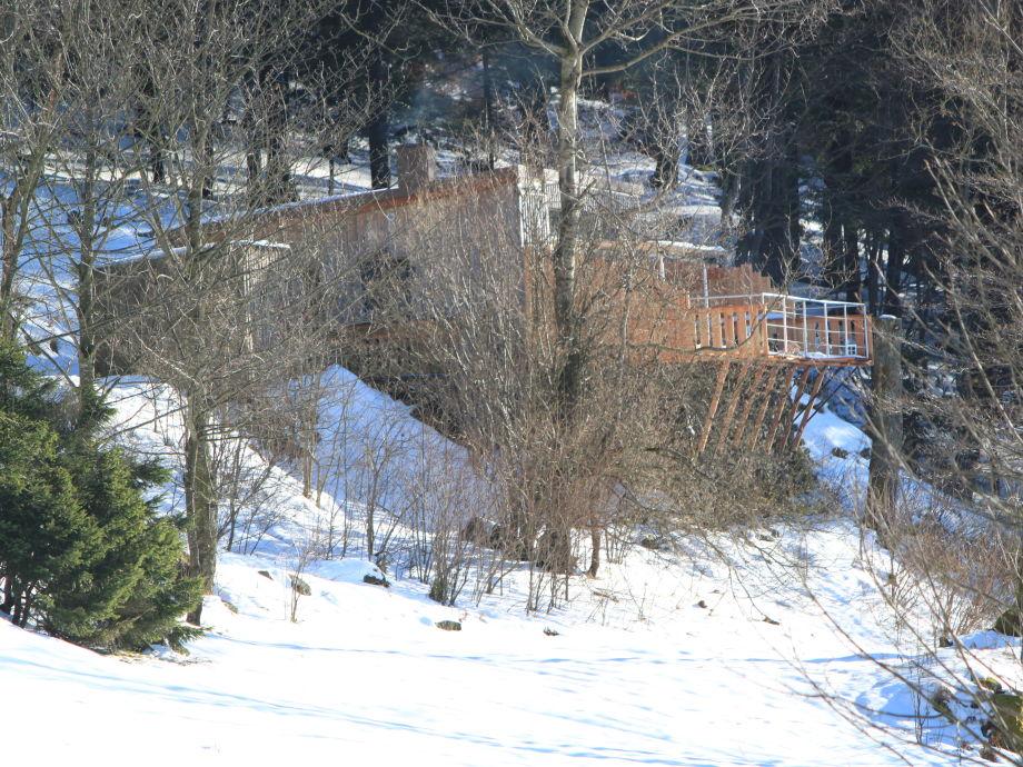 Winteransicht mit vergrößerter Terrasse