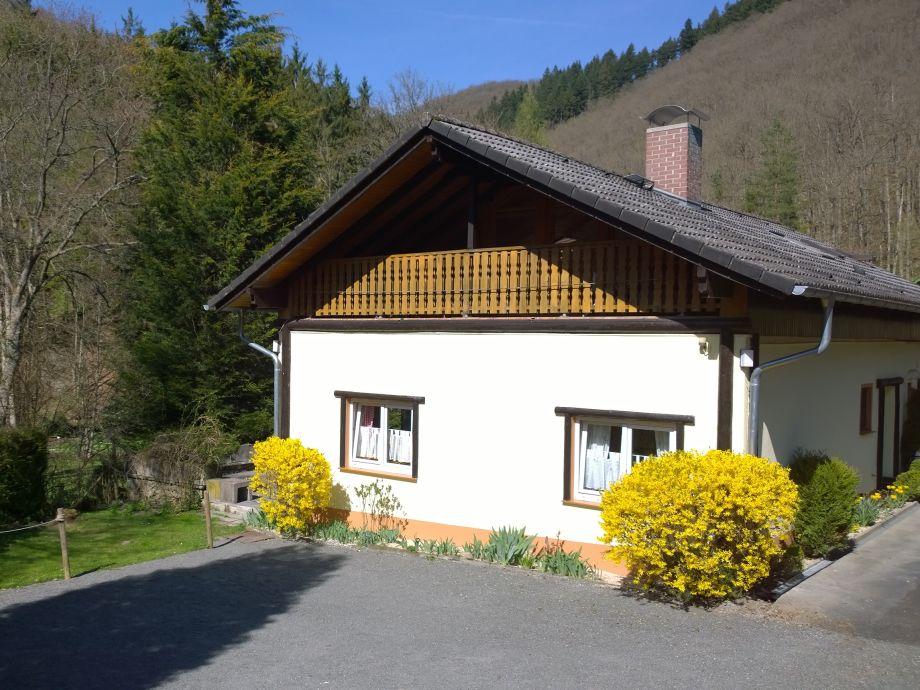 Süd-West-Seite des Ferienhauses