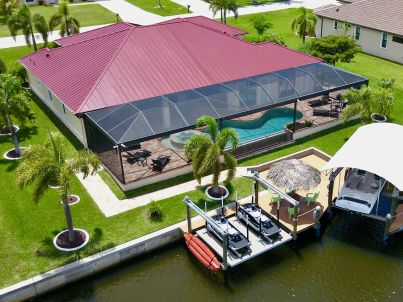Villa Coral Laguna mit Boot