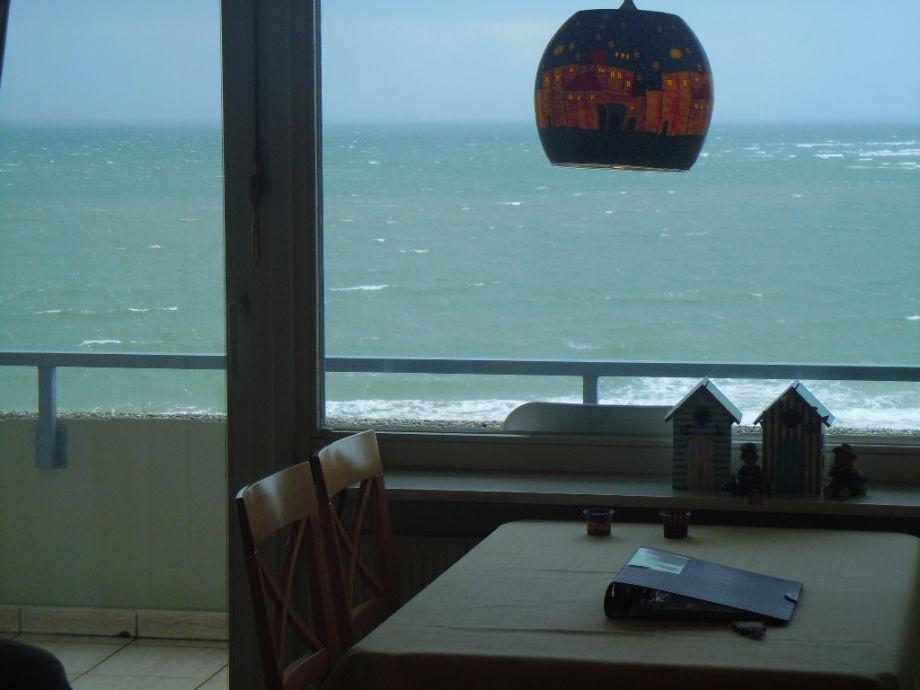 Essecke am Balkon