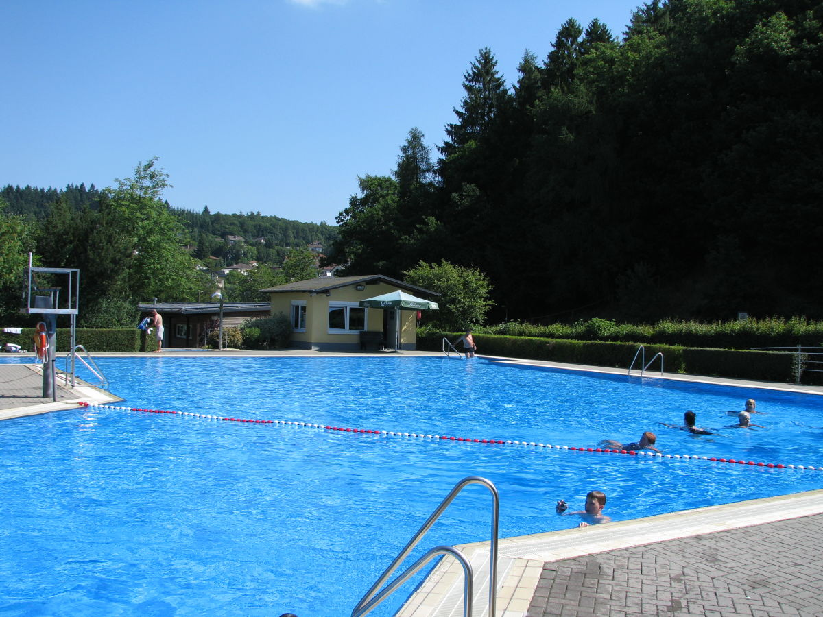 Schwimmbad Im Garten: Ferienwohnung 2 Am Aartalsee, Lahn-Dill-Bergland